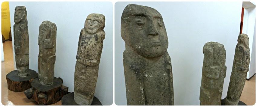 Statues au Musée d'histoire naturelle de Popayán