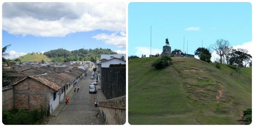 Vista del Morro del Tulcán desde la ciudad de Popayán