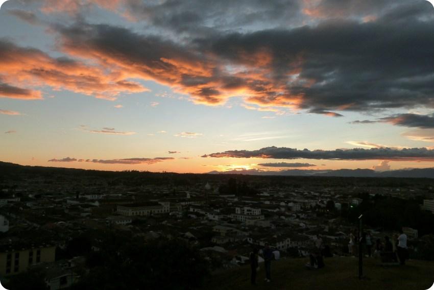 Vista de la ciudad de Popayán desde el Morro del Tulcán