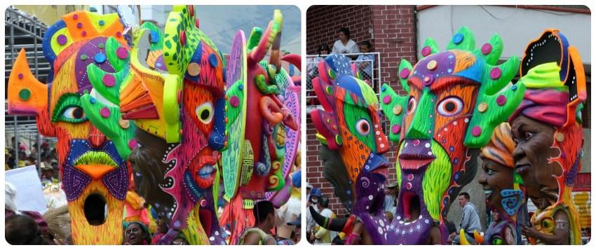 mujeres con mascaras en el carnaval de Pasto