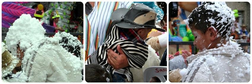 enfants dans le public du carnaval de Pasto