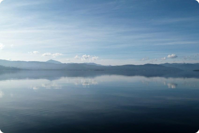 paysage de la lagune de la Cocha à Pasto