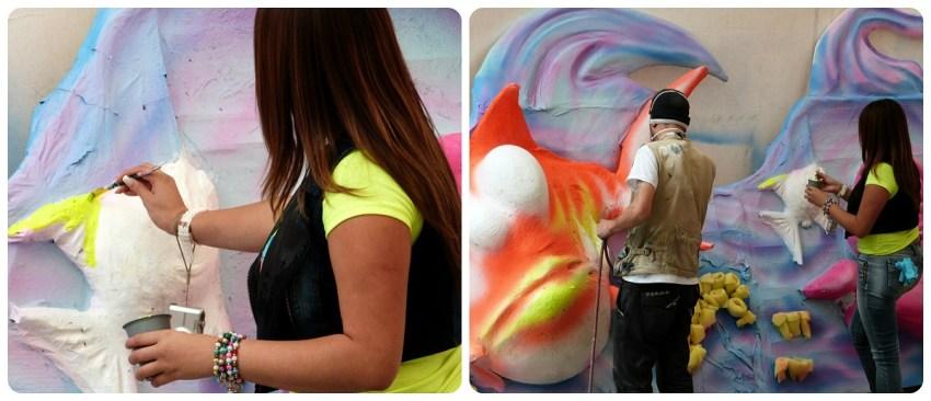 peinture sur un char du carnaval de Pasto