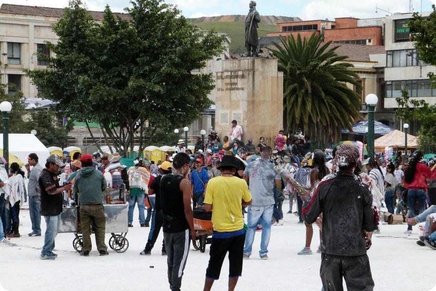 Plaza Nariño en Pasto durante en el Carnaval