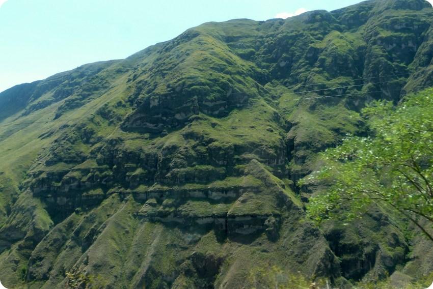 paysage sur la route de Pasto