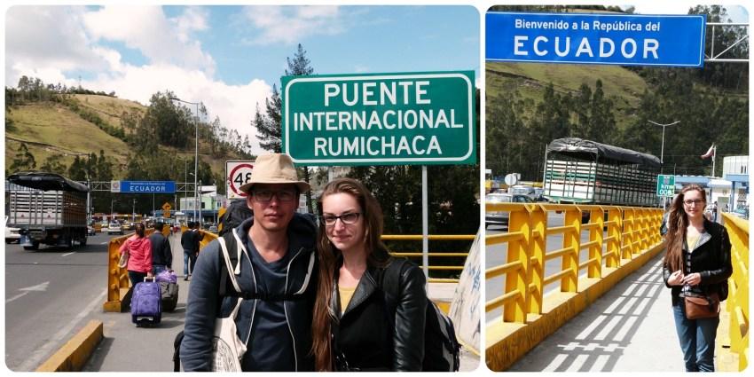 Nosotros en la frontera Colombia - Ecuador en el puente internacional Rumichaca