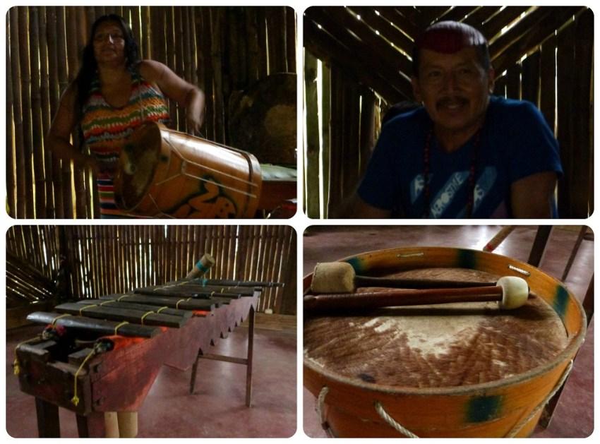 instruments de musique des Tsachila à Santo Domingo de los Colorados