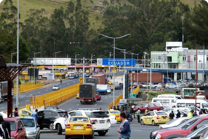 punte rumichaca en la frontera Colombia - Ecuador