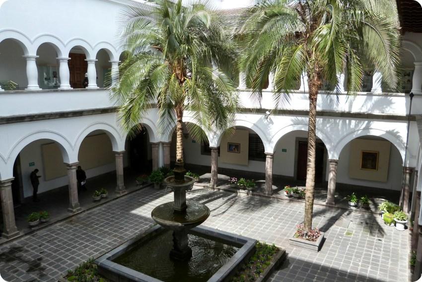 patio du Palacio Presidencial de Quito