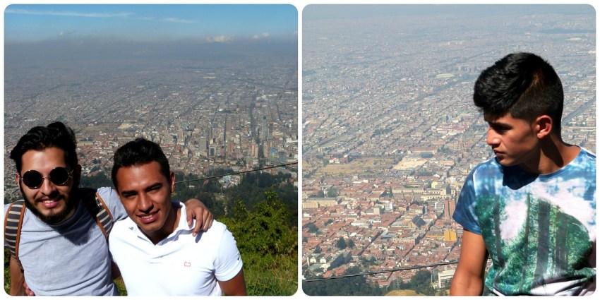 Les cousins de Bogotá en haut de Guadalupe