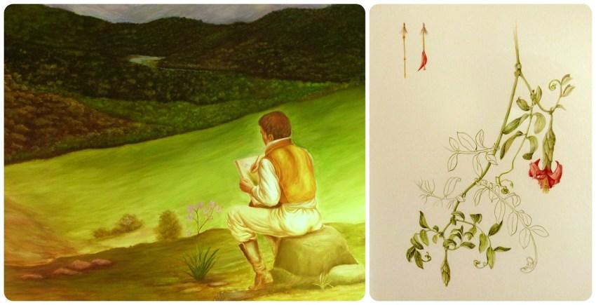 cuadro y dibujo en la Casa Museo Francisco Caldas de Bogotá