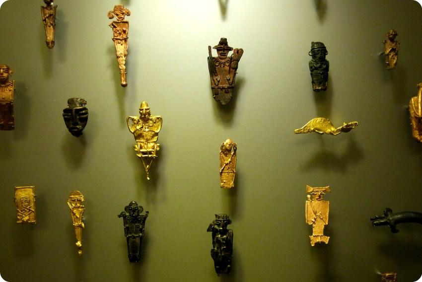 figurinas muisca en el Museo nacional de Colombia de Bogotá