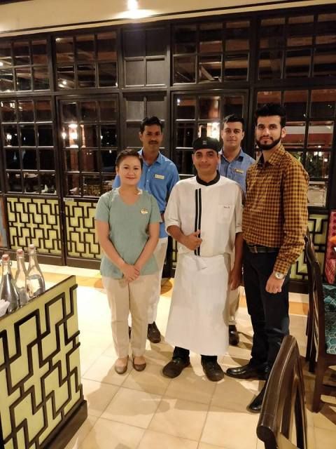 Chef and Staff in Banayan Tree - Taj Hotels