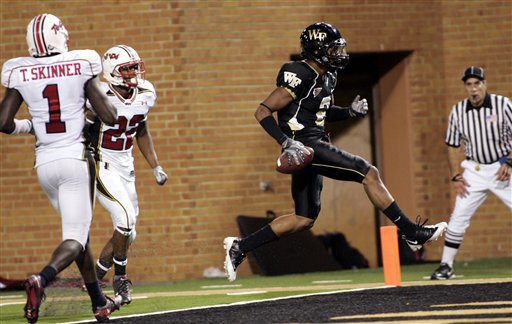 After the Big 3, Chris Givens and Wake Forest are the best of the rest of the ACC — for now. (AP Photo/Nell Redmond)