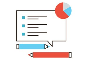 38867162 - thin line icon with flat design element of checklist analysis, market monitoring, survey list, feedback form, poll questions, marketing research. modern style logo vector illustration concept.