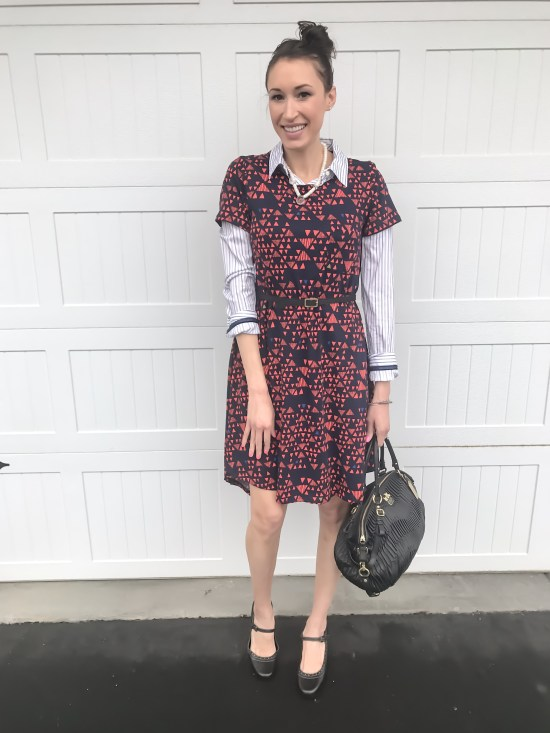 10 ways to wear a LulaRoe Carly dress- business casual 1