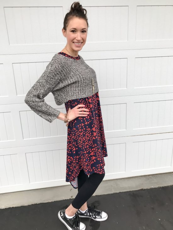 10 ways to wear a LulaRoe Carly dress- casual 4