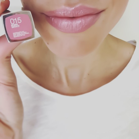 5-minute makeup- Maybelline ColorSensational Lipcolor in Born with It