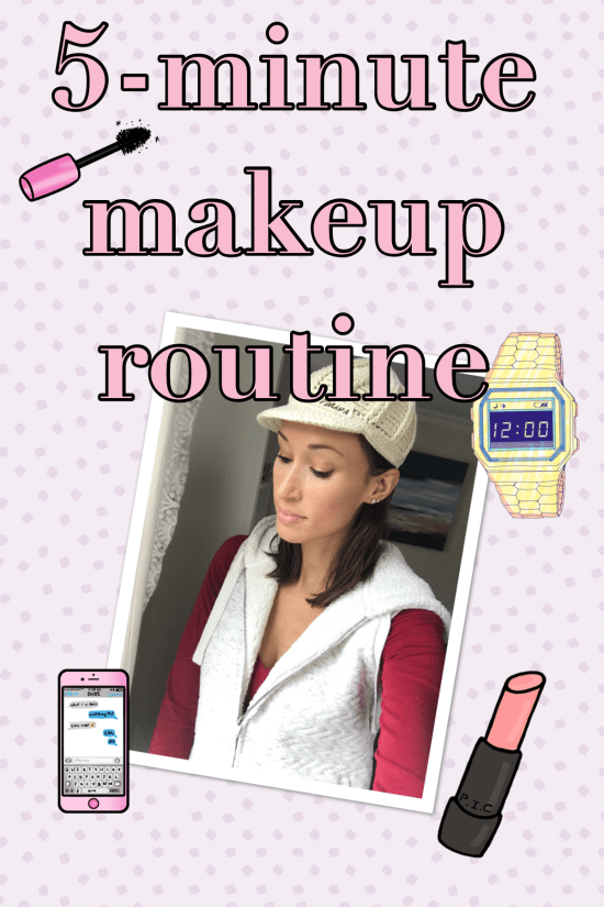 5-minute makeup pin