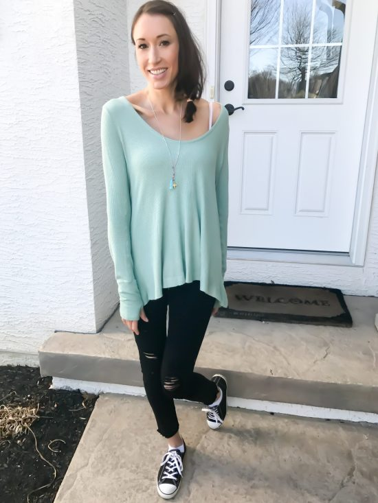 early spring outfit ideas- free people thermal