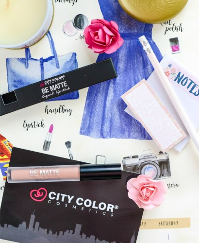 Highly Pigmented Waterproof Lipstick- City Color Cosmetics Be Matte