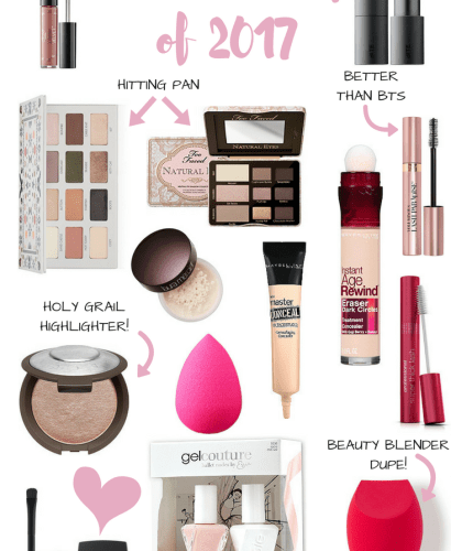 My Favorite Beauty Products of 2017-