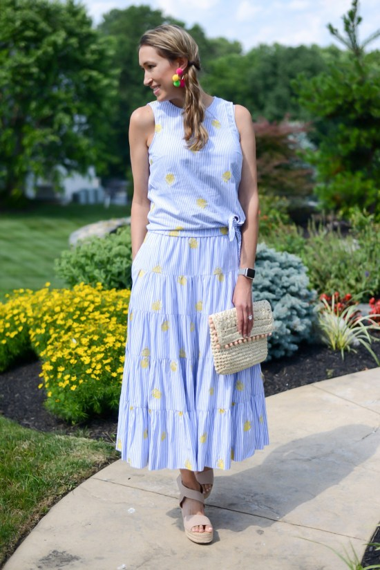 Thrifty Thursday (Vol. 3) two piece set- midi skirt and side tie top