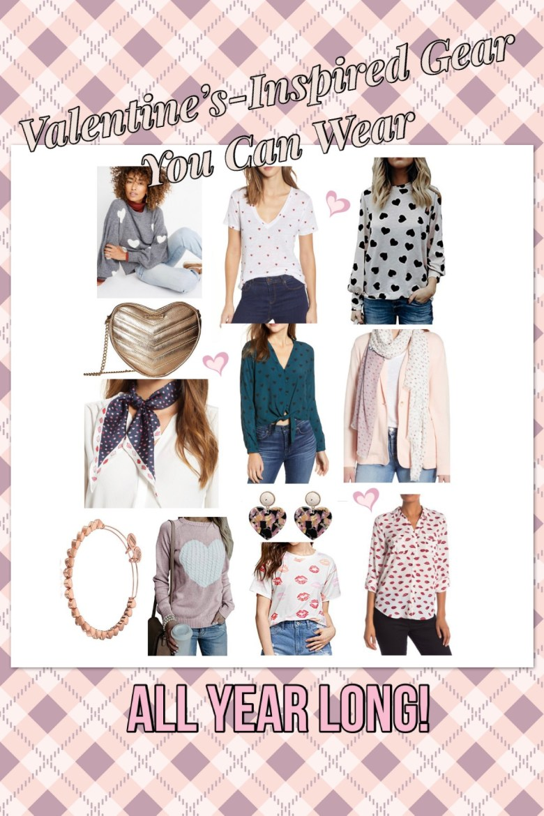 Valentine's Day Outfits; Valentine's Day Accessories; Cute Outfits; Heart Print; Lip Print