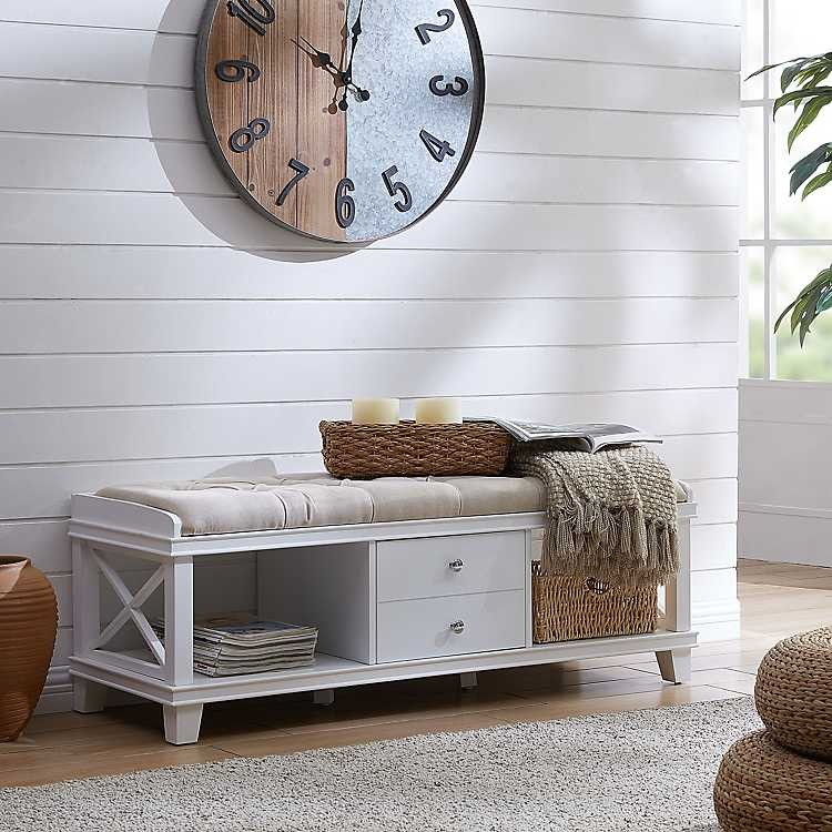 cute storage bench from Kirkland's
