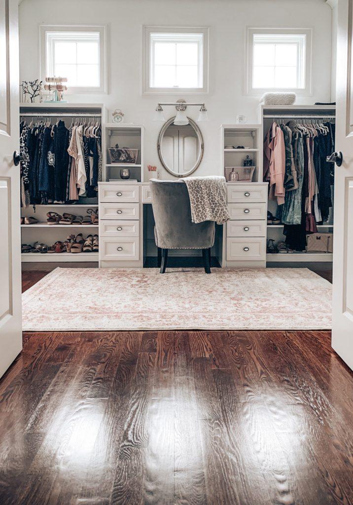feminine master closet design