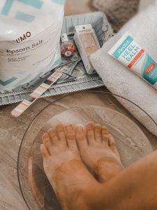 what you need for a DIY pedicure