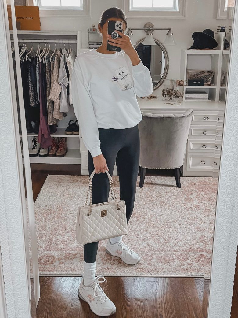 spring closet essential- white quilted shoulder bag