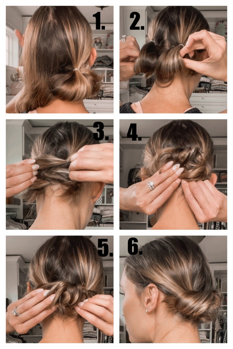 step-by-step tutorial for diy hairstyle idea