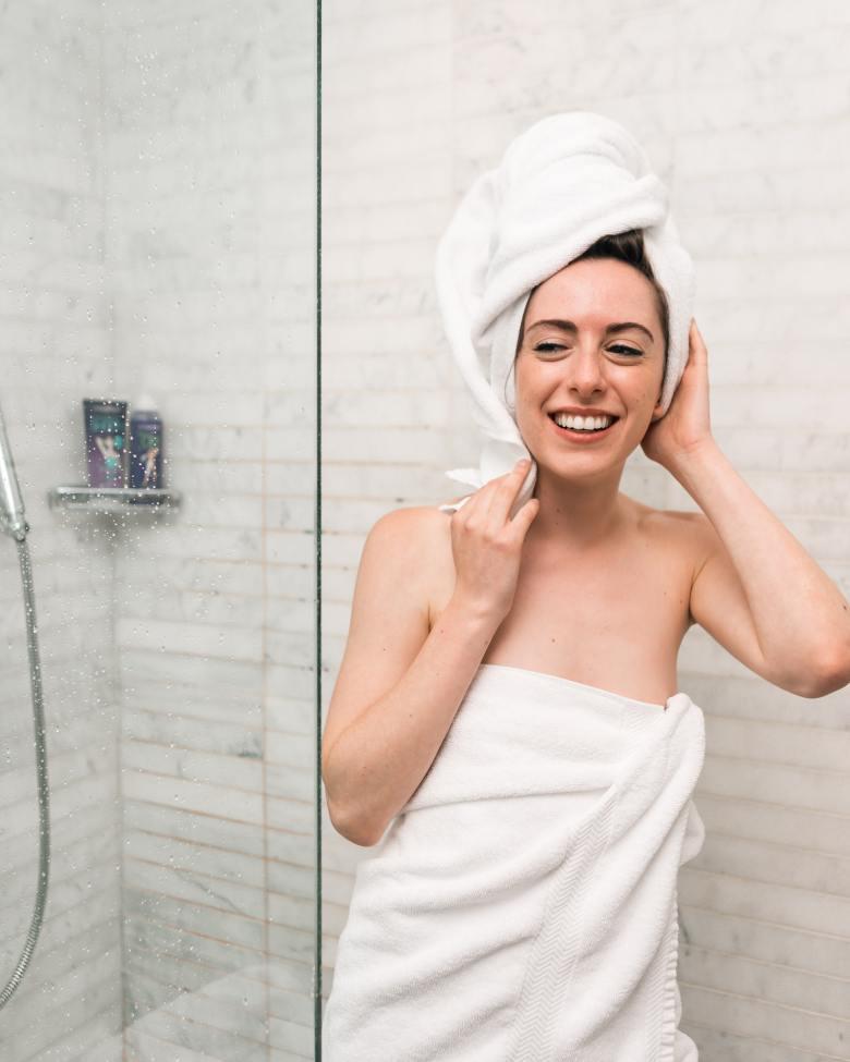 busy mom hack: shower at night