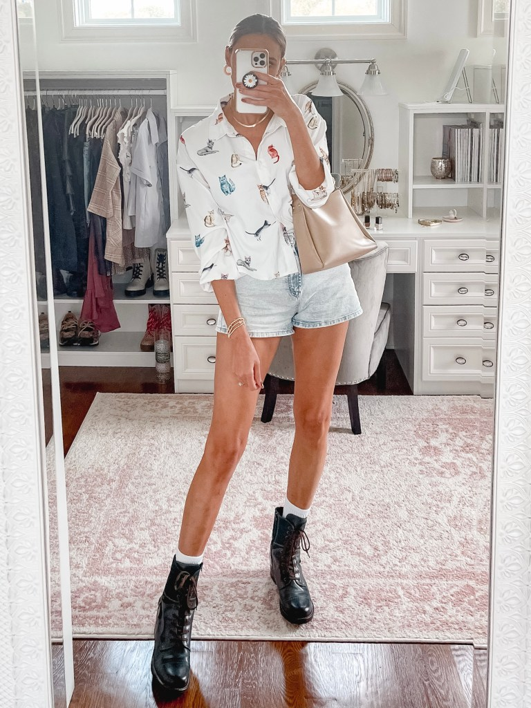 shorts outfit for fall