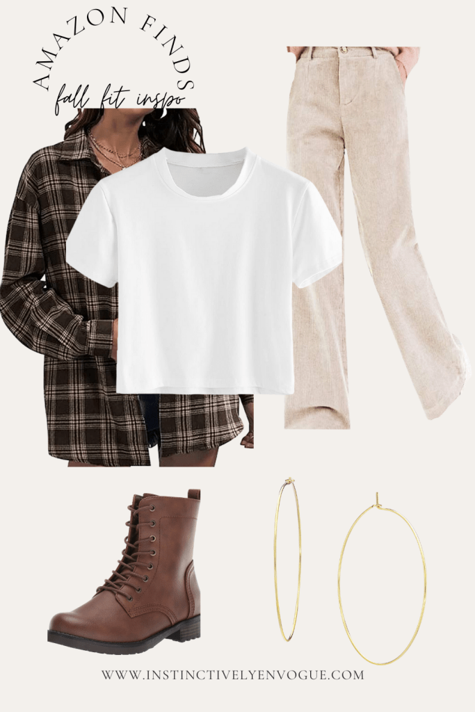 90s grunge outfit with a flannel