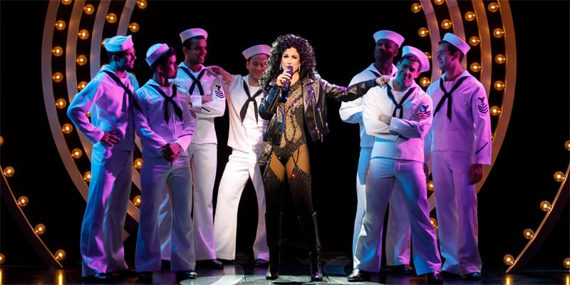 Stephanie J. Block as Star and the cast of THE CHER SHOW on Broadway