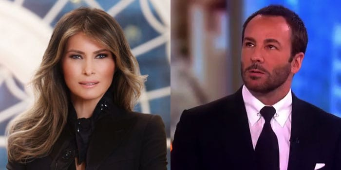 Did fashion designer Tom Ford shade Melania Trump?
