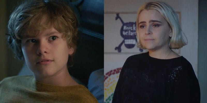 Isaiah Stannard (L) and Mae Whitman (R) of NBC's 'Good Girls'
