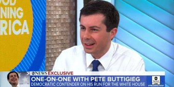 Mayor Pete Buttigieg on GMA (screen capture)