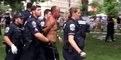 Aftabjit Singh arrested on several gun related charges at DC Pride (screen capture)
