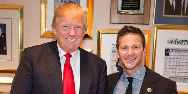 Former Congressman Aaron Schock with Donald Trump (via Instagram)