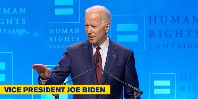 Former Vice President Joe Biden promises to make LGBTQ rights a top priority (screen capture)