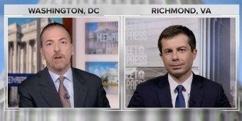 Chuck Todd interviews Mayor Pete Buttigieg on 'Meet The Press' (screen capture)