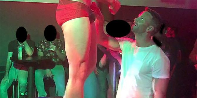 Former congressman Aaron Schock totally-not-tipping Mexico City go-go dancer