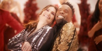 Tony Award winners Idina Menzel & Billy Porter (screen capture)