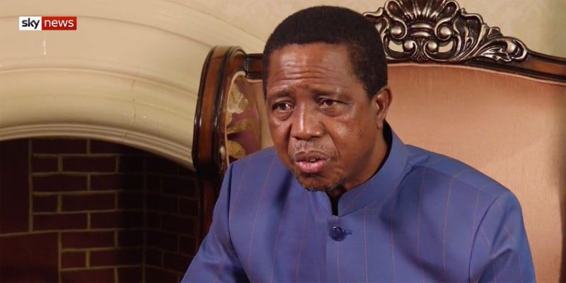 President Lungu of Zambia defends anti-LGBTQ laws (screen capture)