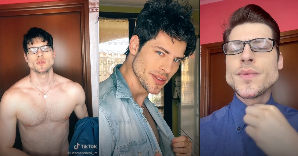 Model Luca Marchesi (images via TikTok)