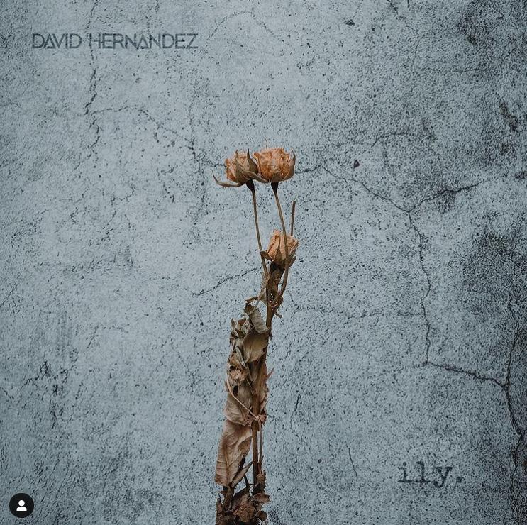 """Cover art for David Hernandez's new single 'ILY."""""""