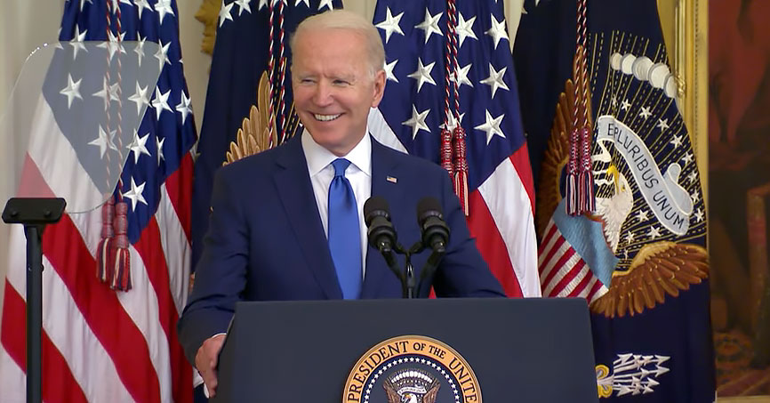 President Joe Biden hosted LGBTQ leaders at the White House in honor of Pride Month
